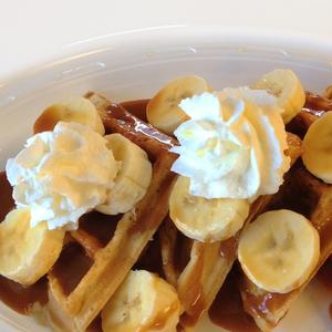 Dulce De Leche & Banana Waffle